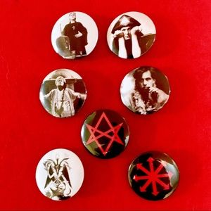 Aleister Crowley/Occult button set!